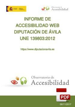 Informe del Observatorio de accesibilidad (20/12/2017).