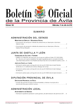 Boletín Oficial de la Provincia del miércoles, 11 de julio de 2012