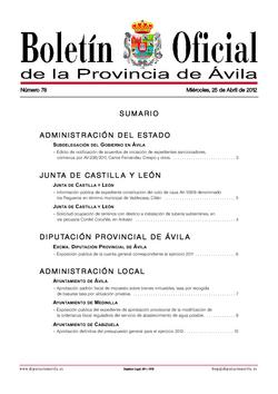 Boletín Oficial de la Provincia del martes, 13 de enero de 2015