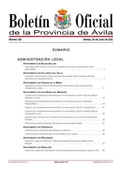 Boletín Oficial de la Provincia del viernes, 29 de junio de 2012