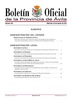 Boletín Oficial de la Provincia del miércoles, 29 de agosto de 2012
