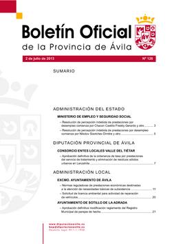 Boletín Oficial de la Provincia del martes, 2 de julio de 2013