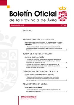 Boletín Oficial de la Provincia del lunes, 3 de junio de 2013