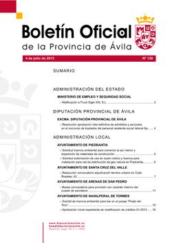 Boletín Oficial de la Provincia del jueves, 4 de julio de 2013