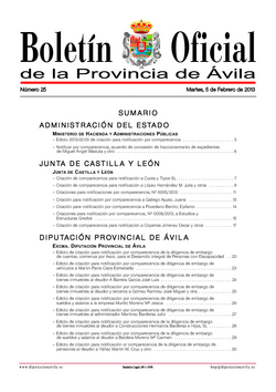 Boletín Oficial de la Provincia del martes, 5 de febrero de 2013