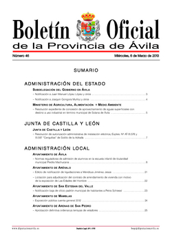 Boletín Oficial de la Provincia del miércoles, 6 de marzo de 2013
