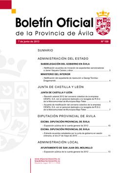 Boletín Oficial de la Provincia del viernes, 7 de junio de 2013