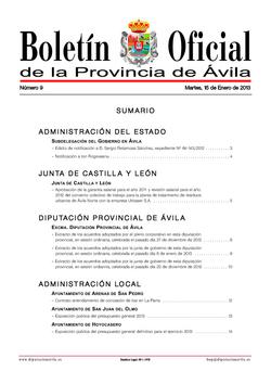 Boletín Oficial de la Provincia del martes, 15 de enero de 2013