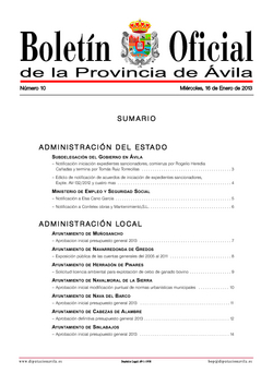 Boletín Oficial de la Provincia del miércoles, 16 de enero de 2013