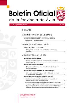 Boletín Oficial de la Provincia del martes, 17 de septiembre de 2013