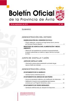 Boletín Oficial de la Provincia del miércoles, 18 de septiembre de 2013