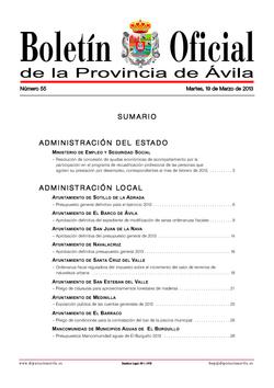 Boletín Oficial de la Provincia del martes, 19 de marzo de 2013