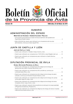 Boletín Oficial de la Provincia del miércoles, 20 de marzo de 2013