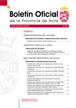 Boletín Oficial de la Provincia del miércoles, 20 de noviembre de 2013