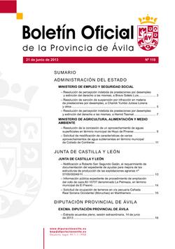 Boletín Oficial de la Provincia del viernes, 21 de junio de 2013