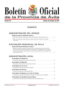 Boletín Oficial de la Provincia del viernes, 22 de marzo de 2013