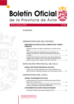 Boletín Oficial de la Provincia del martes, 22 de octubre de 2013