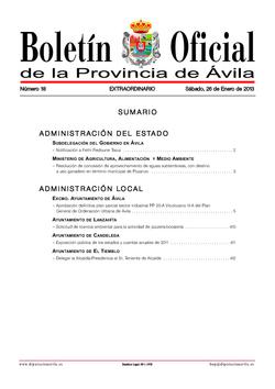 Boletín Oficial de la Provincia del sábado, 26 de enero de 2013