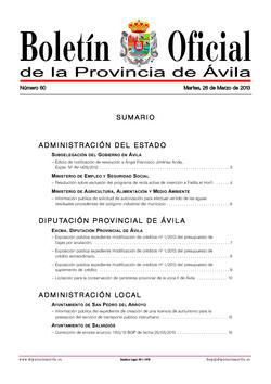 Boletín Oficial de la Provincia del martes, 26 de marzo de 2013