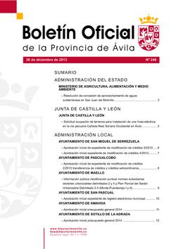 Boletín Oficial de la Provincia del viernes, 20 de febrero de 2015