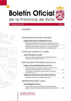 Boletín Oficial de la Provincia del jueves, 27 de junio de 2013