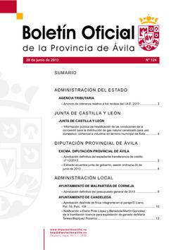 Boletín Oficial de la Provincia del viernes, 28 de junio de 2013