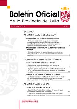Boletín Oficial de la Provincia del martes, 30 de julio de 2013