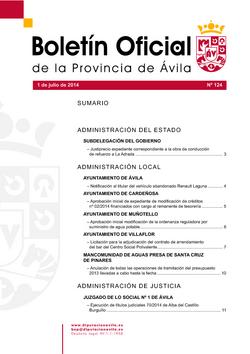 Boletín Oficial de la Provincia del lunes, 12 de enero de 2015