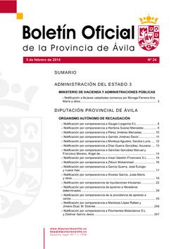 Boletín Oficial de la Provincia del miércoles, 5 de febrero de 2014