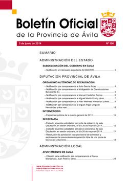 Boletín Oficial de la Provincia del jueves, 19 de febrero de 2015