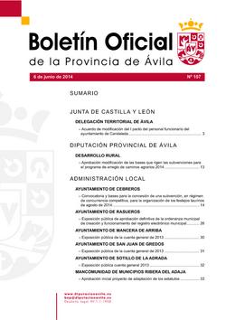 Boletín Oficial de la Provincia del viernes, 6 de junio de 2014