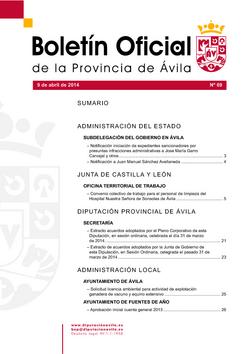 Boletín Oficial de la Provincia del miércoles, 9 de abril de 2014