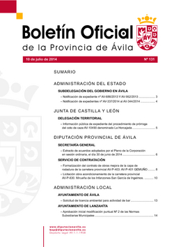 Boletín Oficial de la Provincia del jueves, 10 de julio de 2014