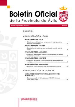 Boletín Oficial de la Provincia del miércoles, 10 de septiembre de 2014
