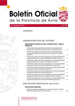 Boletín Oficial de la Provincia del lunes, 14 de julio de 2014