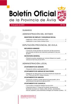 Boletín Oficial de la Provincia del viernes, 13 de junio de 2014