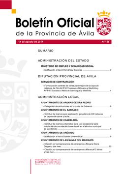 Boletín Oficial de la Provincia del lunes, 23 de febrero de 2015