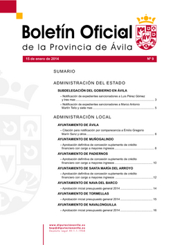 Boletín Oficial de la Provincia del miércoles, 15 de enero de 2014