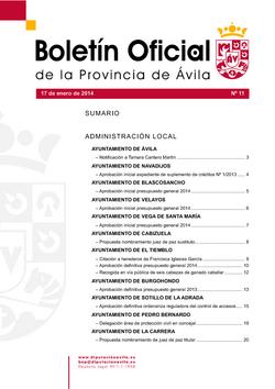 Boletín Oficial de la Provincia del viernes, 17 de enero de 2014