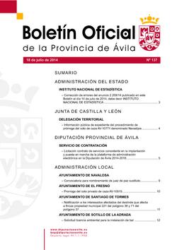 Boletín Oficial de la Provincia del miércoles, 7 de enero de 2015