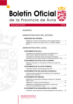 Boletín Oficial de la Provincia del miércoles, 19 de marzo de 2014