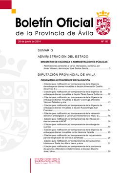 Boletín Oficial de la Provincia del viernes, 20 de junio de 2014