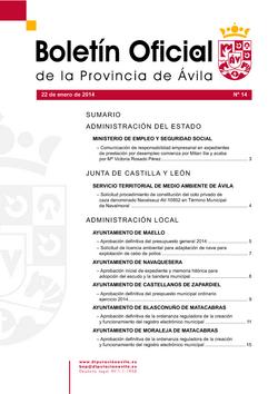 Boletín Oficial de la Provincia del miércoles, 22 de enero de 2014