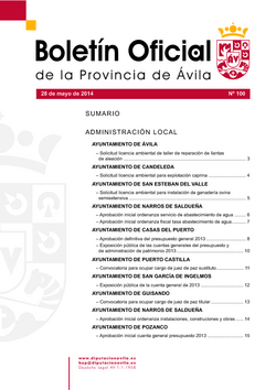Boletín Oficial de la Provincia del miércoles, 28 de mayo de 2014