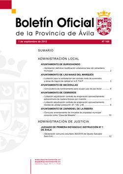 Boletín Oficial de la Provincia del martes, 1 de septiembre de 2015