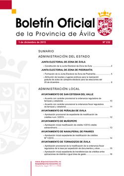 Boletín Oficial de la Provincia del martes, 1 de diciembre de 2015