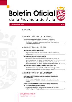 Boletín Oficial de la Provincia del viernes, 2 de enero de 2015