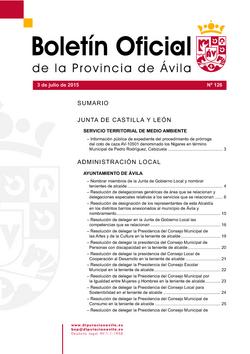 Boletín Oficial de la Provincia del viernes, 3 de julio de 2015