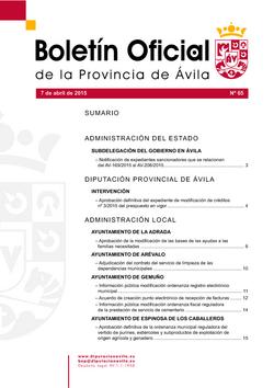 Boletín Oficial de la Provincia del martes, 7 de abril de 2015