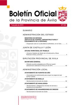 Boletín Oficial de la Provincia del martes, 7 de julio de 2015